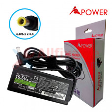 APower Laptop Adapter Replacement For Sony 19.5V 3.3A (6.0/6.5x4.4) 65W Vaio PCG-F SVT131 VGN-C1 VGN-CR VGN-SZ VPC-Y11