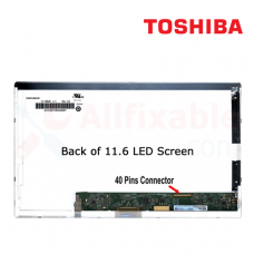 "11.6"" LCD / LED (40Pin) Compatible  For Toshiba Satellite T110 Pro T110 Portege T210"
